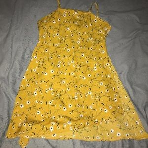 Yellow womens dress